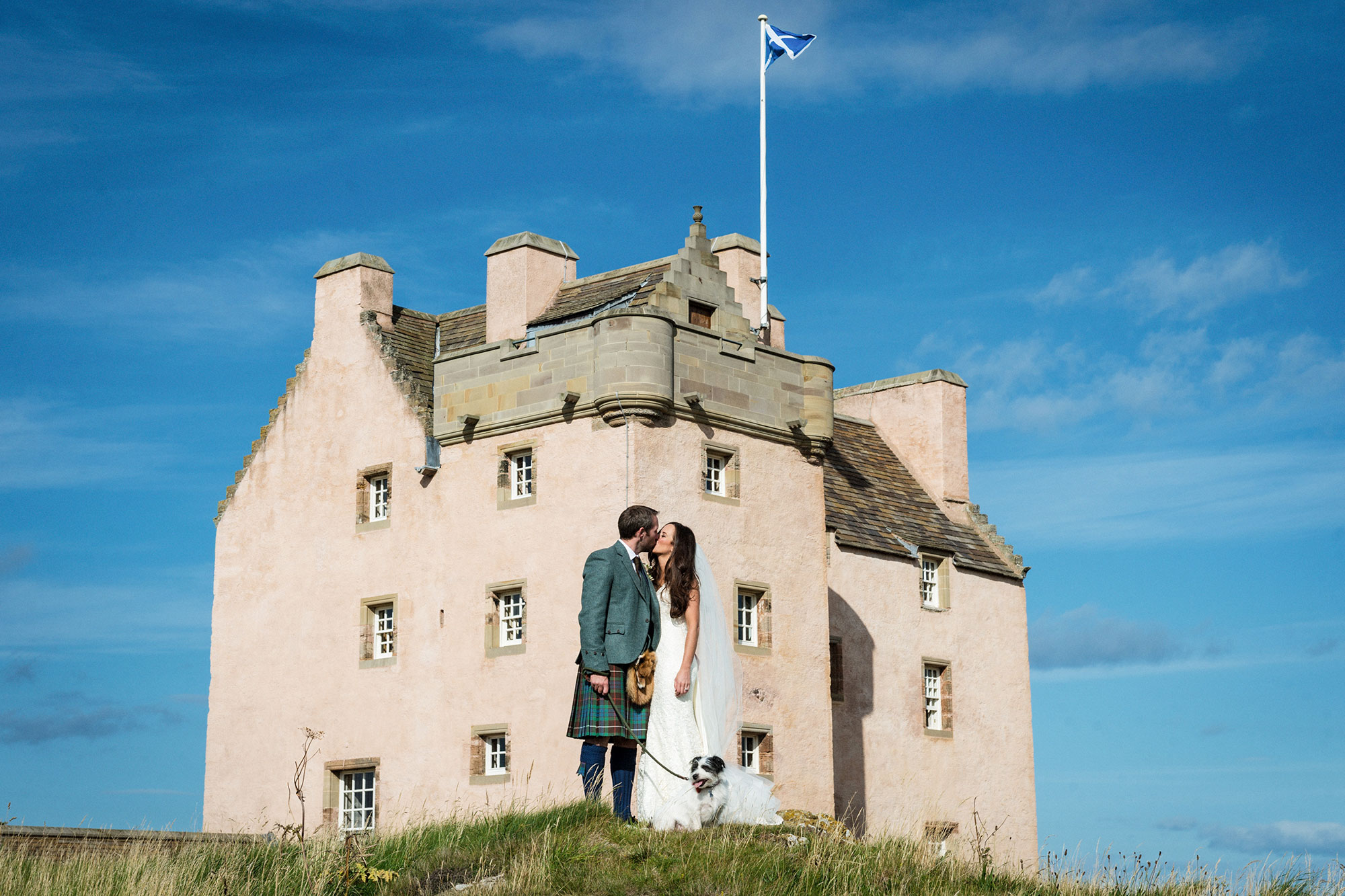 Fenton Tower North Berwick wedding photographer