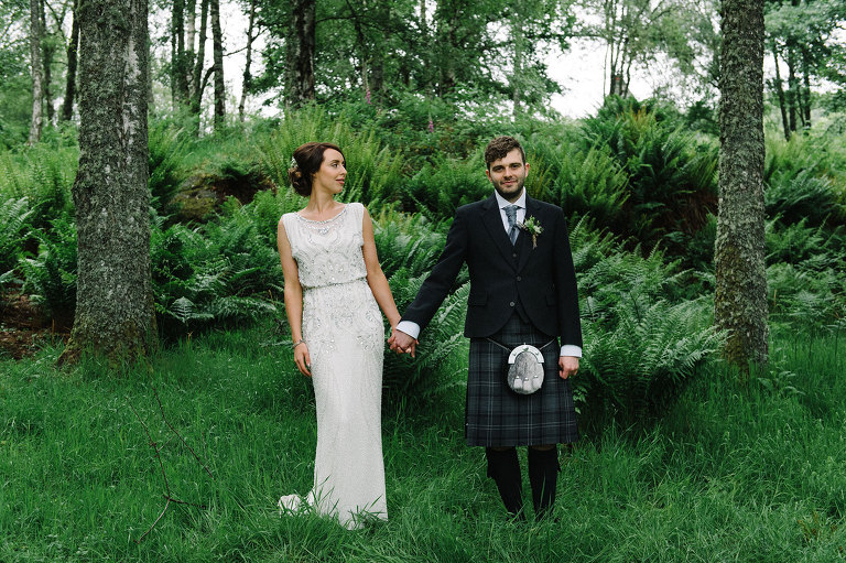 Wedding portrait Comrie Croft Perth and Kinross