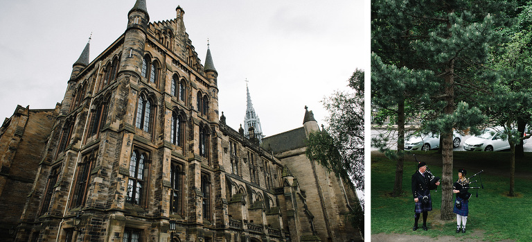 University of Glasgow Memorial Chapel wedding photographer