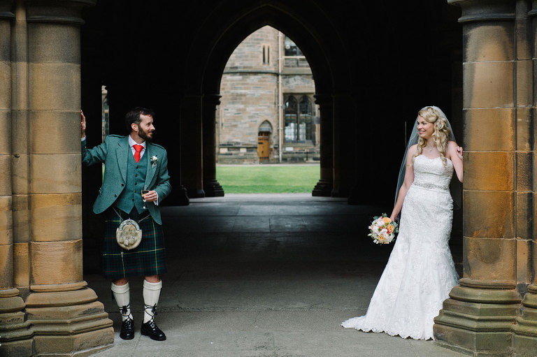 Wedding photographer University of Glasgow